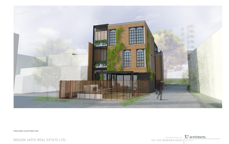 411 remuera road proposed courtyard view