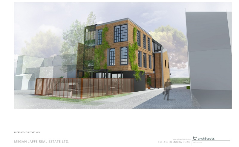 411 remuera road proposed courtyard view2